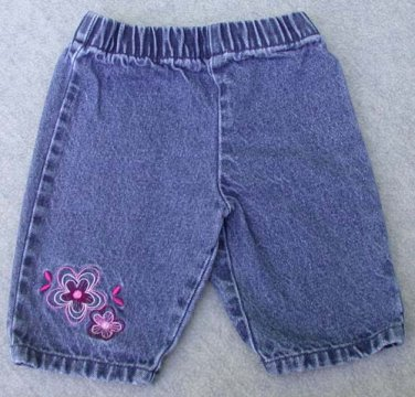 "Koala Kids Infant blue Denim Jeans ""Cutie"" on the Back Size 3-6M"