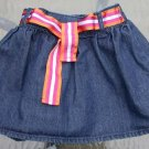 Infant Belted Blue Denim Skirt Size 24 Mos. Carter's