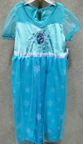"""Frozen"" Elsa Dress-up Dress Sleepwear Costume Size S 6/6X"