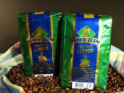 MONK'S BLEND Philippine Arabica Fine Ground Coffee 2 x 200g/14ounces