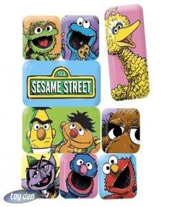 SESAME STREET MASTERPIECE SET OF 9 ASSORTED MAGNETS