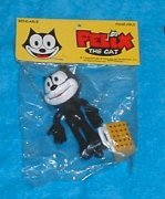FELIX THE CAT 3 INCH BENDABLE, POSEABLE FIGURE.