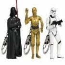 STAR WARS-SERIES 1   SET OF 3 KEYCHAINS BY BASIC FUN