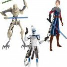 STAR WARS-SERIES 1 CLONE WARS  SET OF 3 KEYCHAINS