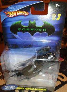BATMAN 1:50 SCALE BATMAN FOREVER BATMOBILE  HOT WHEELS