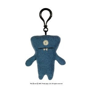 UGLY DOLL -  Uglydoll Wedgehead   Plush Mini Keychain Clip-On 4 inch