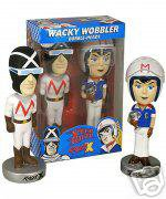 SPEED RACER  & RACER X BOXED SET OF 2- WACKY WOBBLERS