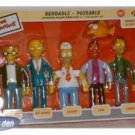 SIMPSONS - SET OF (5) BENDABLES IN BOX SERIES 2 Nuclear Power Plant