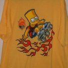 T-SHIRT - OFFICIALLY LICENSED - SIMPSONS -BART SKATEBOARDER
