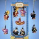 BEATLES YELLOW SUBMARINE SGT PEPPERS 5 PIECE mini ORNAMENT BOX SET