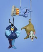 BEATLES YELLOW SUBMARINE- SET of 3 CHARACTERS ORNAMENTS