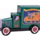PENNY TOY - SANTA CLAUS in TIN TRUCK ORNAMENT
