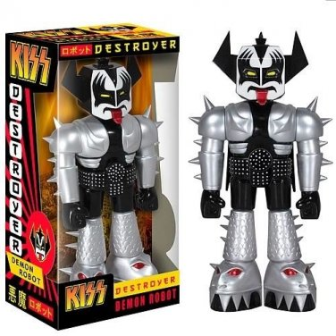 KISS DEMON ROBOT 11 inch TALL VINYL INVADER FIGURE