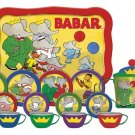 BABAR THE ELEPHANT 15 PIECE TIN TEA SET