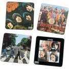 The Beatles ALBUM COVERS 4-Piece Wood Coaster Set, Multicolored  by Vandor