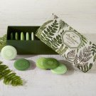 BELVEDERE SET OF 10 LEMONGRASS SCENTED DISC SOAPS WITH EMBOSSED FERN IN GIFT BOX