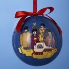 BEATLES - YELLOW SUBMARINE 80MM DECOUPAGE BALL ORNAMENT
