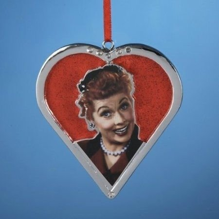 I LOVE LUCY - LUCY CHROMED HEART STYLE ORNAMENT
