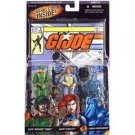 "G.I. JOE Hasbro  3 3/4""  Scarlett, Breaker, Cobra Commander 3-Pack with comic"