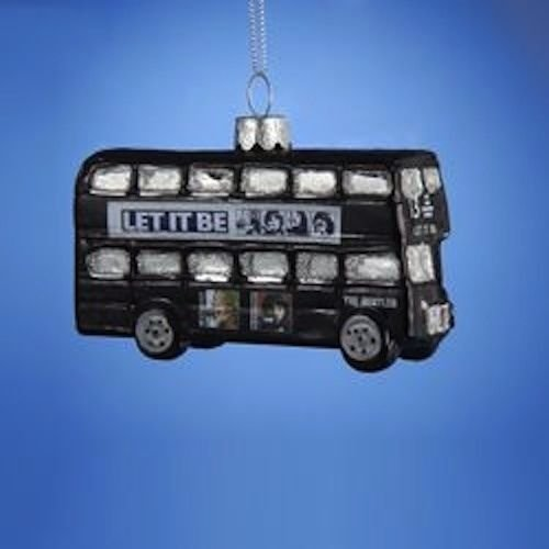 BEATLES  LET IT BE LONDON DOUBLE DECKER BUS GLASS ORNAMENT