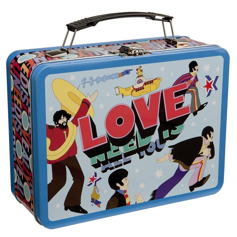 "BEATLES ""All You Need is Love"" LARGE TIN TOTE by Vandor"