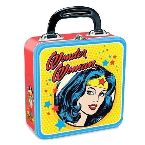 DC Wonder Woman Multicolored Square Tin Tote