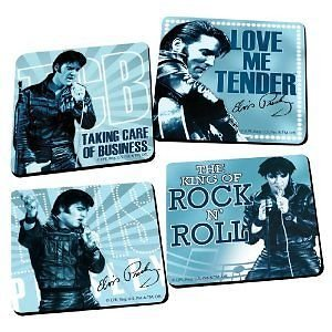 Vandor Elvis Presley Set of 4 Coasters (Blue)