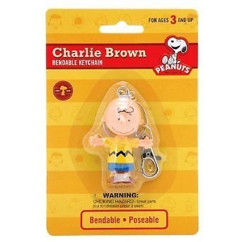 Peanuts  Charlie Brown 2.5 inch Bendable Keychain by NJ Croce