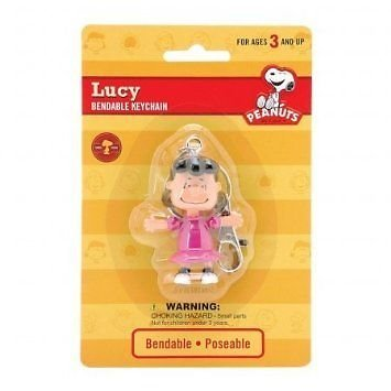 Peanuts  Lucy 2.5 inch Bendable Keychain by NJ Croce