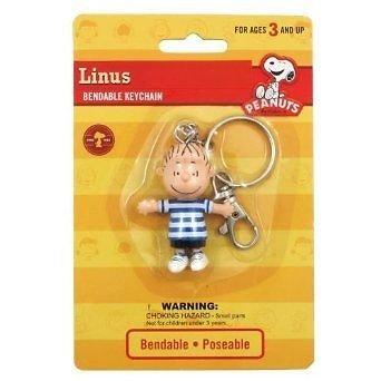 """Peanuts Linus 2.5""""Bendable Keychain"""