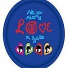 BEATLES - ALL YOU NEED IS LOVE Oval TRAY