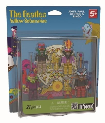 BEATLES YELLOW SUBMARINE SGT PEPPERS BUILDABLE FIGURE SET BY K'NEX