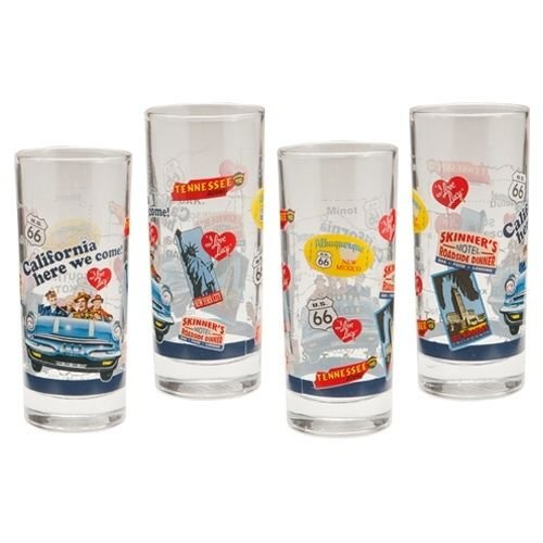 I Love Lucy 4 pc. 10 oz. Glass Boxed Set