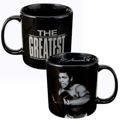 Muhammad Ali 20-Ounce Black Mug in Gift Box