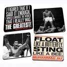 Muhammad Ali 4-Piece Wood Coaster Set, Multicolored by Vandor