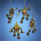 TEENAGE MUTANT NINJA TURTLES SET OF 4 PIECES BLOW MOLD ORNAMENTS