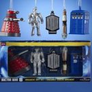 DOCTOR WHO  BOXED SET OF 5 PIECES ORNAMENTS