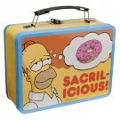 SIMPSONS SACRALICIOUS LARGE 2 SIDED TIN TOTE LUNCHBOX