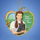 "Wizard of OZ Dorothy & Toto ""there's no place like home"" Clip Ornament"