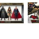 Batman vs. Superman: Dawn of Justice Set of 3 Boxed Bendables & Keychain