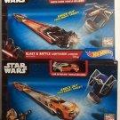 Hot Wheels Star Wars Blast & Battle Lightsaber Launcher Set of 2 Boxes
