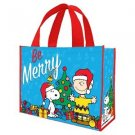 "Peanuts ""Be Merry"" Large Gift Tote"