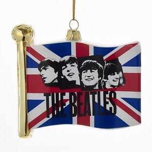 "The Beatles - Beatles 4.5""  Jack Flag Glass Ornament"