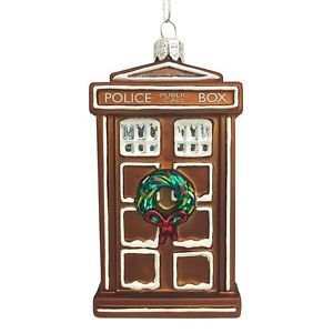 """Dr. Who - Doctor Who 4.5""""  Gingerbread TARDIS Ornament"""