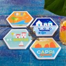 Set of 4 pieces Bon Voyage Ceramic Coasters in Gift Box