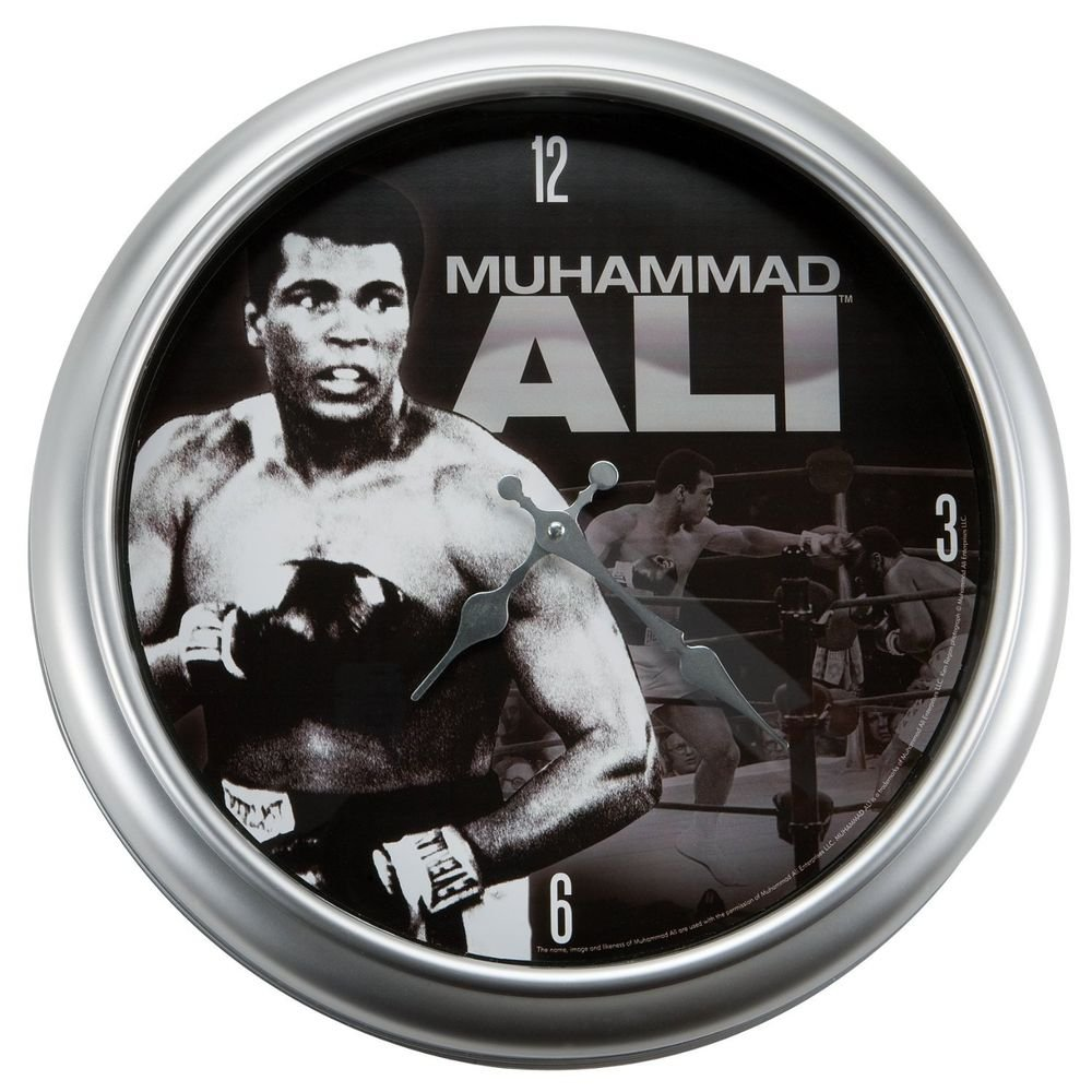Muhammad Ali Large Metal Wall Clock
