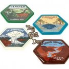 Set of 4 pieces Road Trip Ceramic Coasters in Gift Box