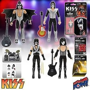 KISS Love Gun 3 3/4-Inch Series 1 Complete Set of 4 Action Figures