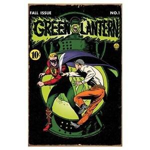 Green Lantern Comic Book Cover Heavy Gauge Metal Sign