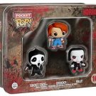 Horror - Ghost Face, Chucky, Billy Pocket Pop! Mini Vinyl Figure  3-Pack Tin